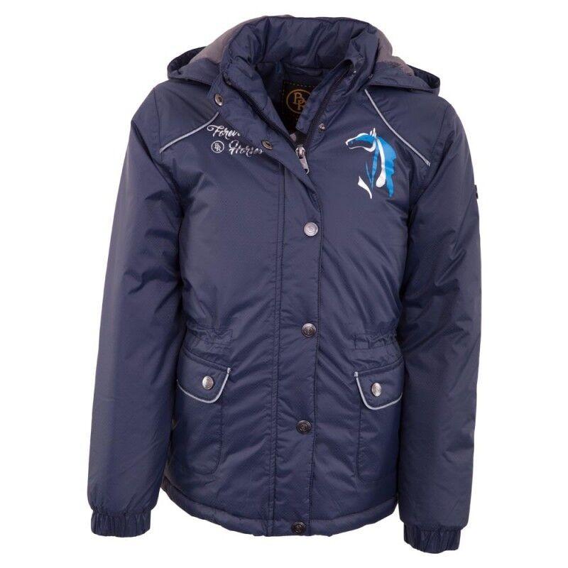 BR veste pour enfants Jupiter Navy Dark azul imperméable capuche 2-Way Zipper