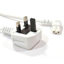 5M Figura 8 IEC C7 destro angolato cavo di alimentazione per Samsung TV LED LG Sony Bianco