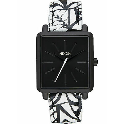 NEW Nixon A472 2218 K Squared Black Women's Leather Watch (NO BOX INCLUDED)