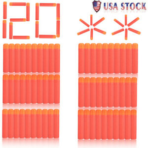 120pcs  9.5m Refill Foam Bullet Darts For Nerf N-Strike Elite Mega Toys Gun US