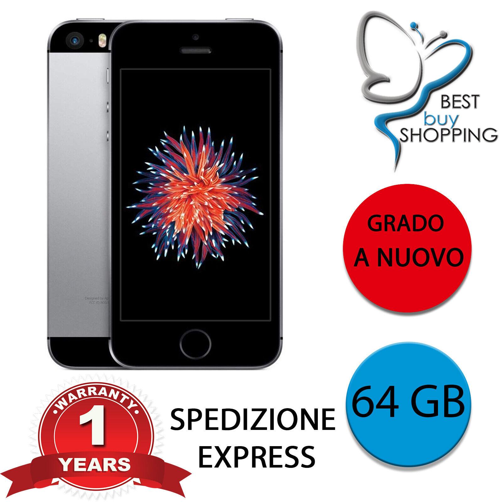 iPhone: IPHONE SE RICONDIZIONATO A NUOVO 64 GB NERO ORIGINALE APPLE + GARANZIA 1 ANNO