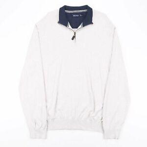 Vintage Nautica Beige 00s 1/4 Zip Pullover Herren 2xl