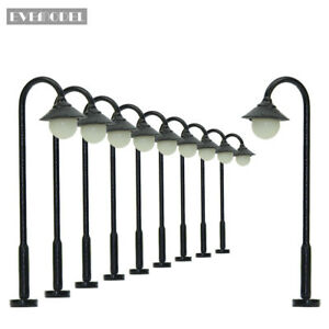 LYM25CN-10pcs-Model-Railway-Train-Lamp-Post-Street-Lights-N-TT-Scale-LEDs-NEW