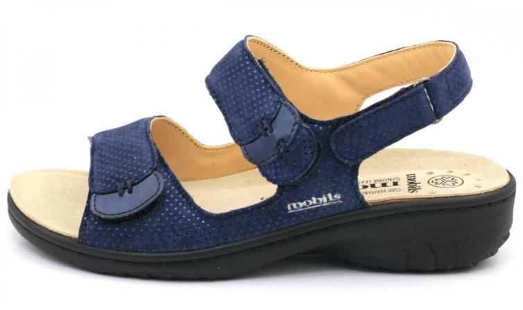 Mephisto Mobils Gehta Navy Caviglia Stap Comfort Sandali Misure da women 35-42