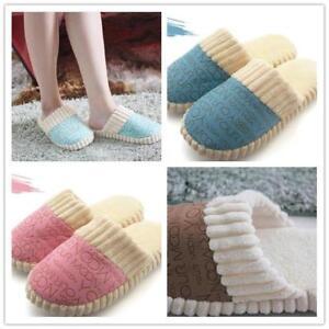 Winter-Women-Men-Fleece-Warm-Soft-Plush-Antiskid-Indoor-Couple-Home-Slippers-G