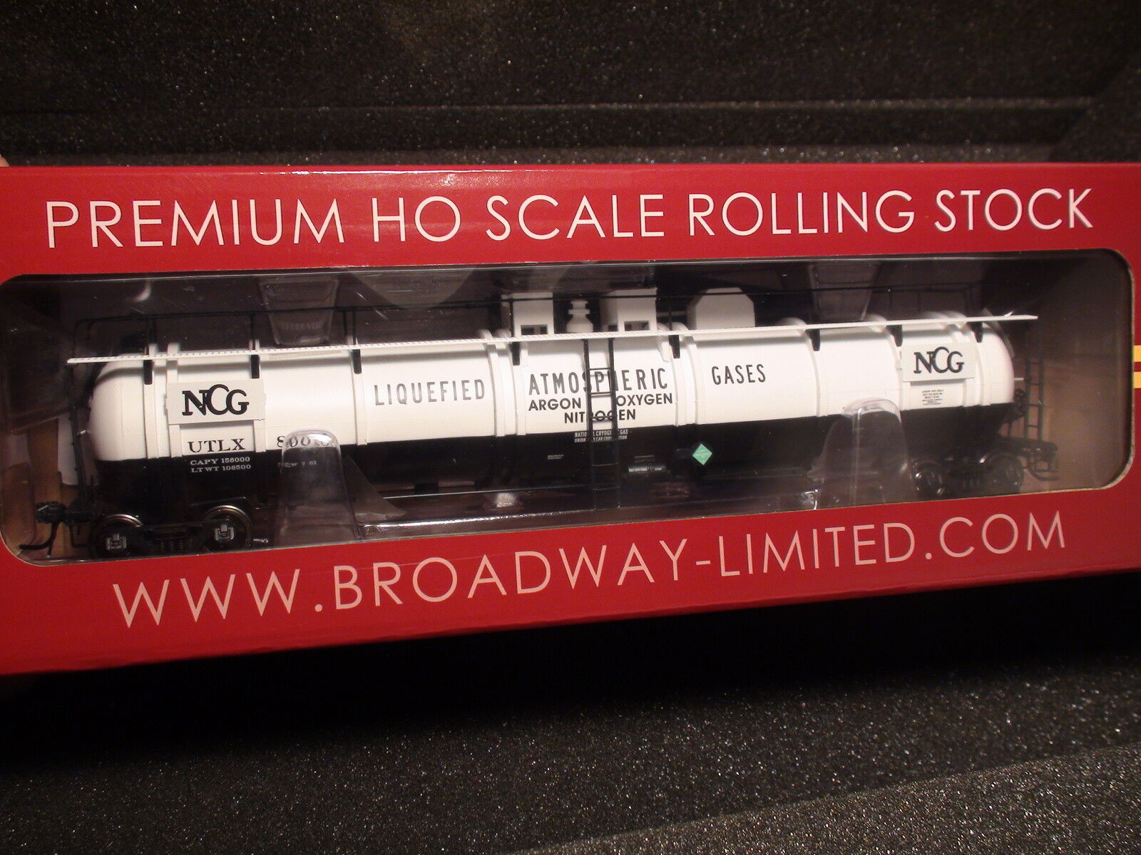 HO-BROADWAY LIMITED  6113 Cryogenic Tank Car, NCG Single  1  Car SHIP NEXT DAY