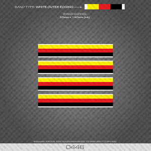 01345 World Champion Stripes Bands White Edges Bicycle Decals Stickers