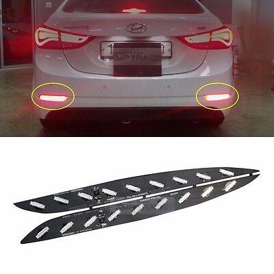 Rear Bumper Reflector 2Way Brake LED Module 2Pcs for KIA 2011-2016 Sportage R