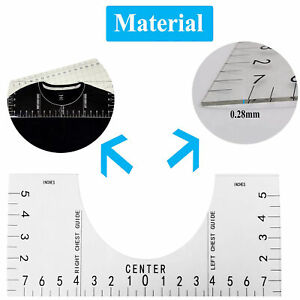 Tshirt Alignment Tool for HTV Heat Press Transfer Vinyl T Shirt Placement Graphic Guide Tshirt Ruler Guide