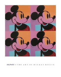 Andy-WARHOL-MICKEY-MOUSE-POP-ART-PRINT-Poster-24x30-LAST-ONE-OUT-OF-PRINT