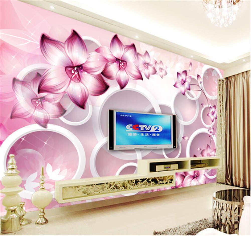 Purple Morning Glory3D Full Wall Mural Photo Wallpaper Printing Home Kids Decor