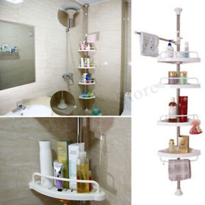 4-Tier-Adjustable-Telescopic-Bathroom-Corner-Shower-Shelf-Rack-Caddy-Organiser