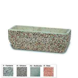 Fioriere da esterno fioriera da balcone cm55x20x20h nei vari colori in lavato ebay - Colori da esterno ...