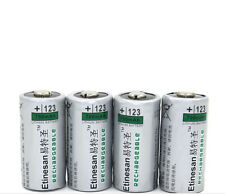 4X 700mAh 3v CR123A 2/3A Recargable LiFePO 4 Batería De Litio Linterna, camear