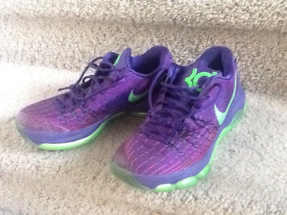 Nike KD 8 Purple/Green Size 9 Mens Basketball Shoes