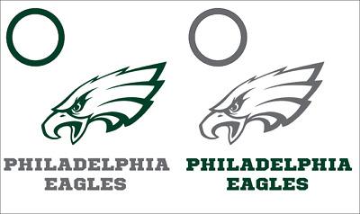 Six Philadelphia Eagles vs Baltimore Ravens Cornhole Decals DIY Vinyl Sticker Set For Bean Bag Toss 6 Vinyl Decals for Board Building /& Decorating Decal Sticker Hub