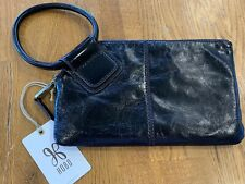 Hobo Bags Genuine Leather Cleo Black Wristlet Purse Clutch Wallet New with Tags