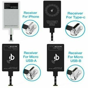 Fast Charging Wireless Qi Charger Adapter Micro USB Type-C for iPhone Receiver
