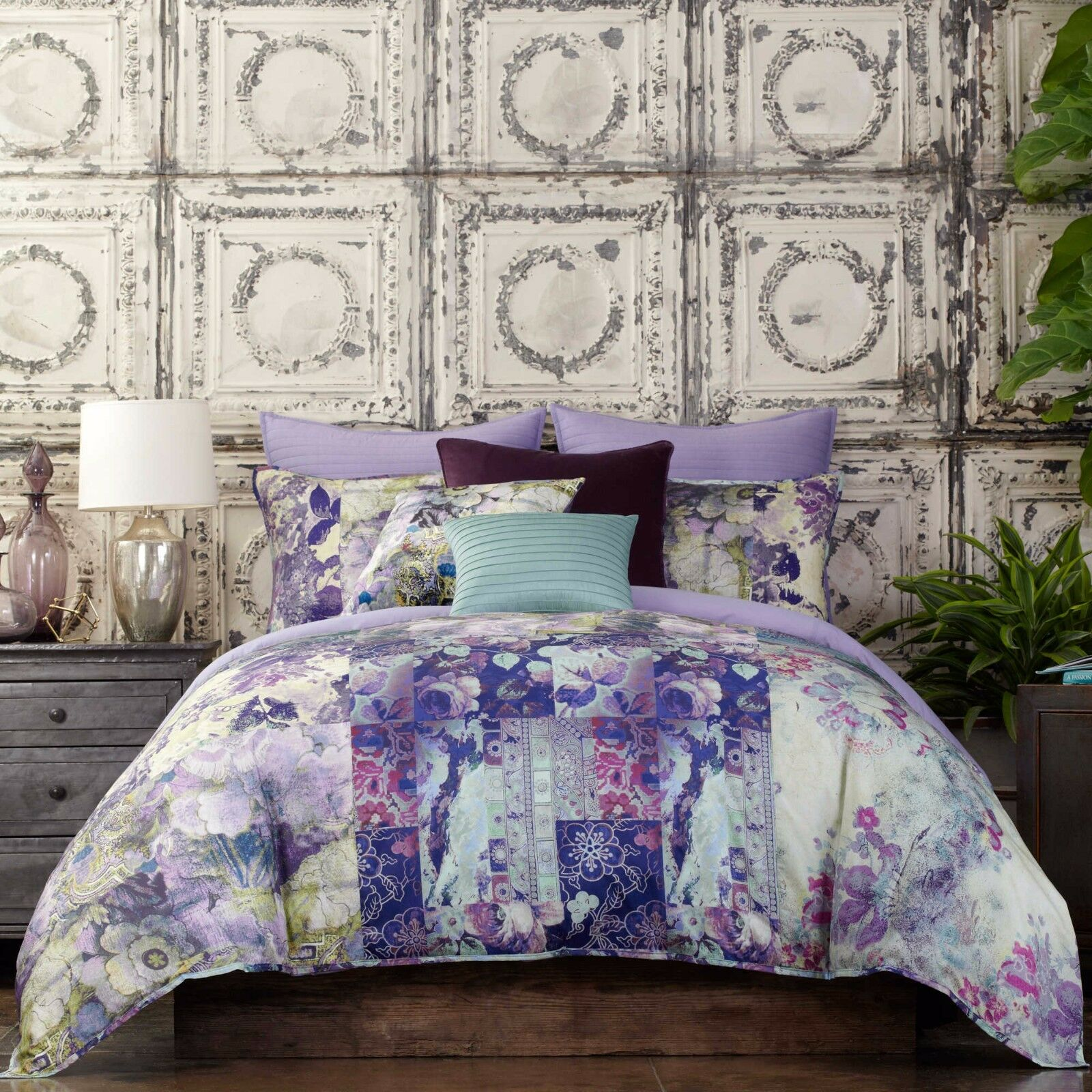 POETIC WANDERLUST KIT TWIN COMFORTER SET IN lila HUES ECLECTIC BY TRACY PORTER