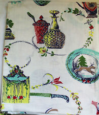 """VINTAGE NOVELTY 1930s - 40s COTTON FEEDSACK QUILT FABRIC 44-3/4"""" x 37-1/2"""""""