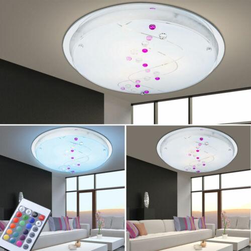 LED Glas Decken Lampe RGB Fernbedienung Gäste Zimmer Dekor Stein Leuchte dimmbar