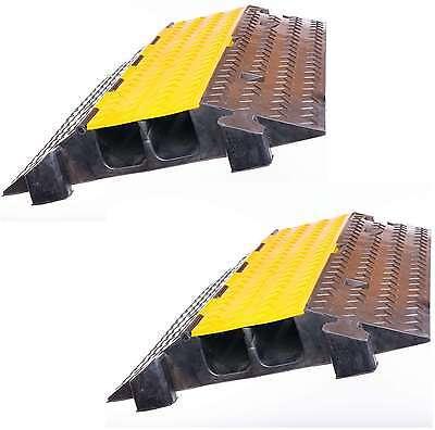 2x 2 Kanal Feuerwehr Thw Schlauchbrücke Kabelbrücke Überfahrrampe Überfahrschutz Pro-audio Equipment Business & Industrie