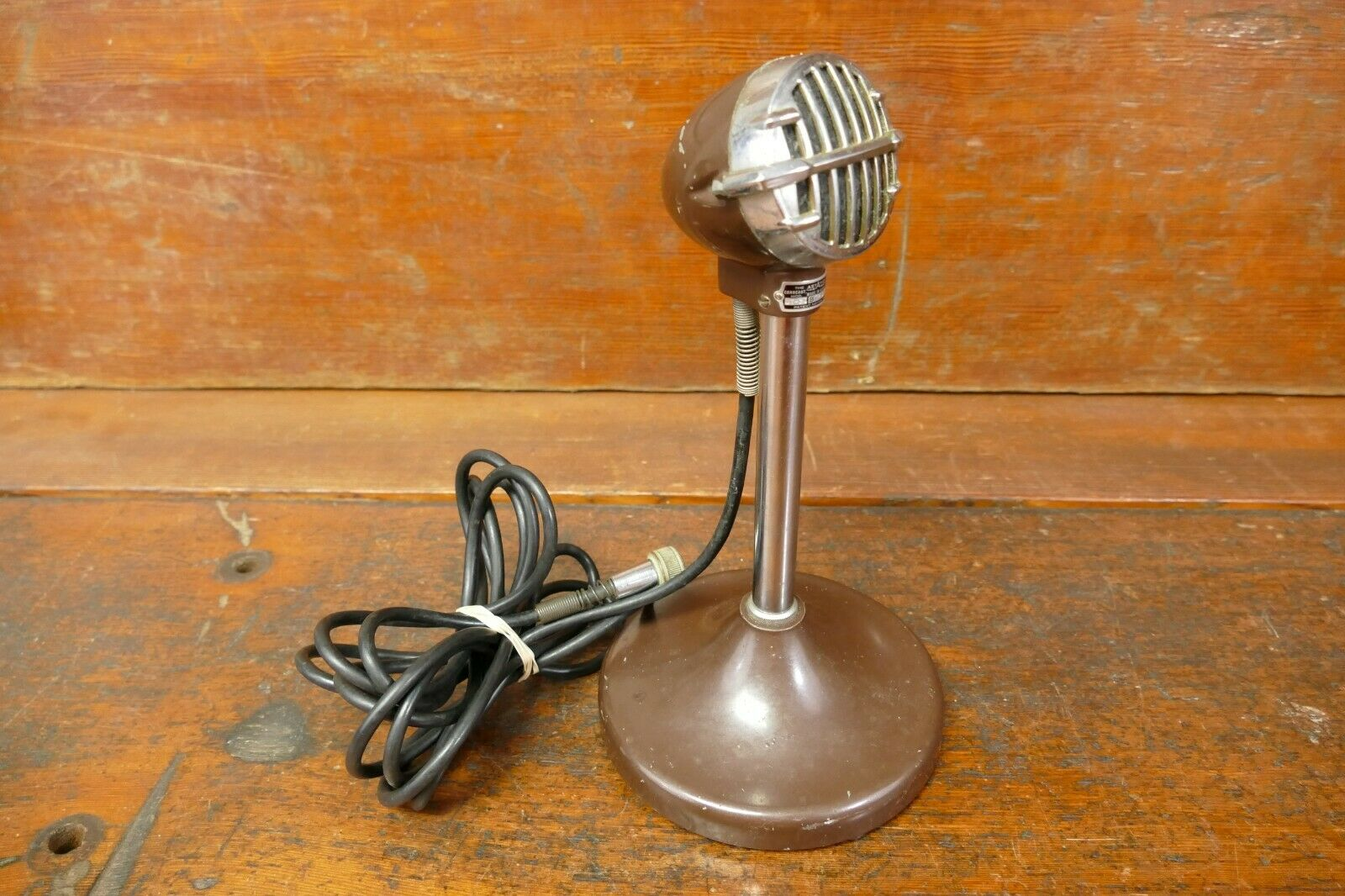 Vintage Astatic JT-30 Blaus Harp Bullet Microphone W  Original E5 Stand & Cord