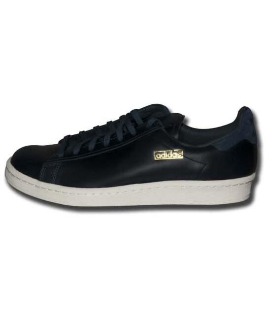 newest collection ac3f2 a50fa Adidas Originals Hombre Azul marino Piel Blanca Campus Años 80 Deluxe  Zapatillas