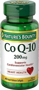 c5a08c28ae4 Details about Natures Bounty Co Q-10 Extra Strength 200Mg Bonus Value Size  45 Softgels New