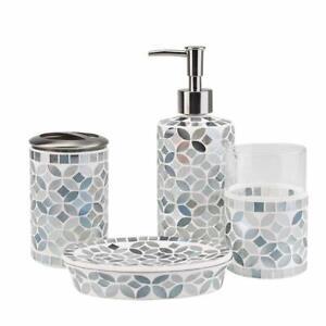Gl Mosaic Bathroom Accessories Set