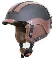 Alpina Cap Deluxe Black-brown Ski Helmet Snowboard Winter Sport