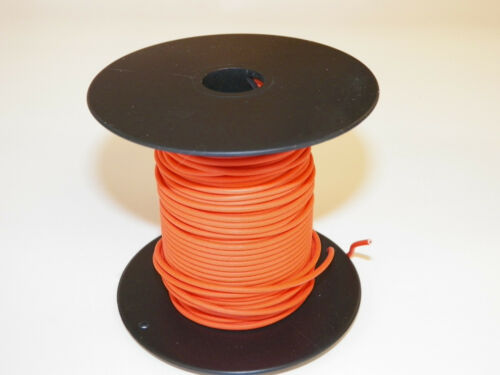 18TXL HIGH TEMP AUTOMOTIVE WIRE 100 FOOT SPOOL OF ORANGE