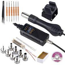 Soldering Station Heat Gun Desoldering Iron Kit Smd Rework Welder Solder Tool