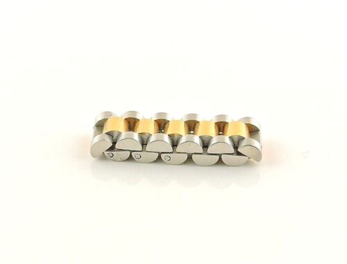 Stainless Steel Brushed Flexible Band With Gold IP Ring