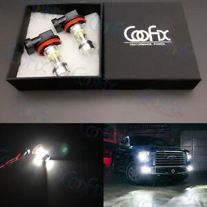One-Pair-H8-H9-H11-H16-1000-Lumens-6000K-White-CREE-100W-LED-Fog-Lights-Bulbs-6