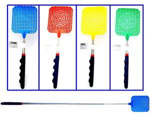 """4pc 28-5/16"""" Télescopique Télescopique Fly Swatter + Coussin Grip En Assortiment De Couleurs-afficher Le Titre D'origine SuppléMent éNergie Vitale Et Nourrir Yin"""
