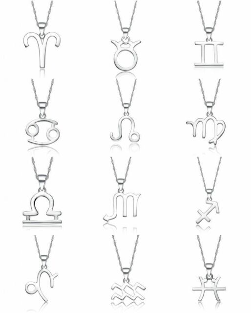 Fashion Chic Silver Plated Zodiac Constellation Charms Pendant Necklace Jewelry