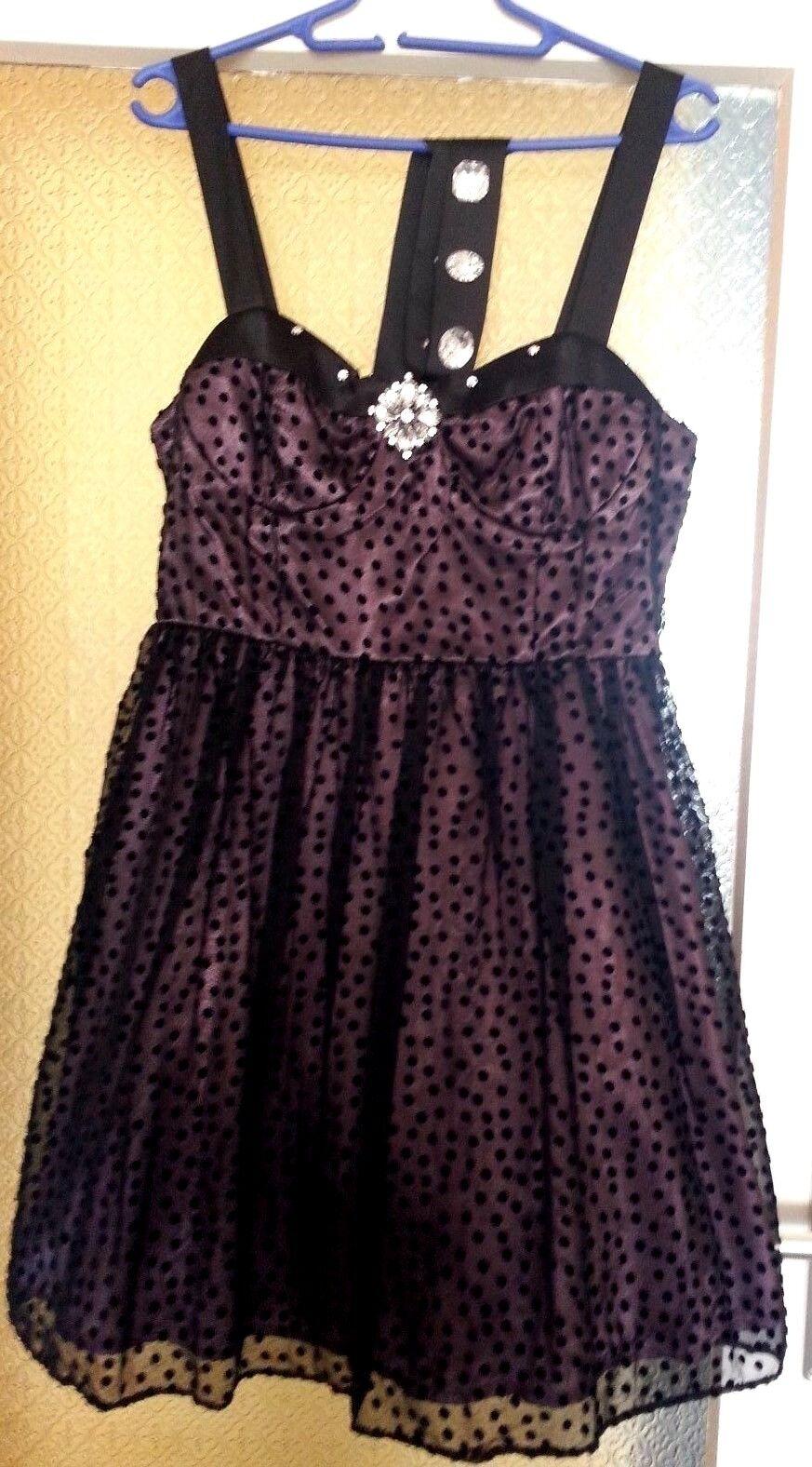 Damen Cocktailkleid mit Petticoat Gr.38-40(11) schwarz