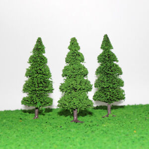 Details about S040512 10pcs 12cm Model Train Trees Pine Railroad Scenery  Layout HO OO Scale