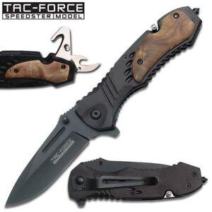 Spring Assist Folding Pocket Knife Black Tacitcal Serrated