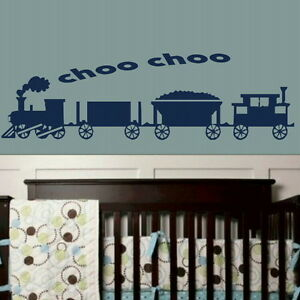 Choo Train Nursery Wall Transfer  Art Wall Decor  Nursery Wall Stickers nin27 - Tamworth, Staffordshire, United Kingdom - We offer a 100% customer satisfaction gaurantee, if you are unhappy with the item for any reason you will be entitled to a refund/replacement, where a replacement is required due to change of mind the customer wil - Tamworth, Staffordshire, United Kingdom