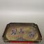 "8/"" Treasure Asia China Pure copper carving character square Tea tray"