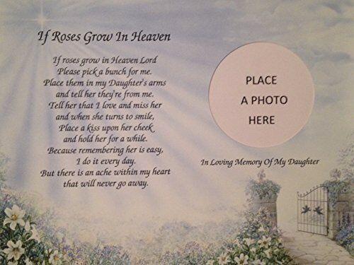 "/'If Roses Grow In Heaven/"" In Memory of my DAUGHTER Memorial Poem Loss of Child"