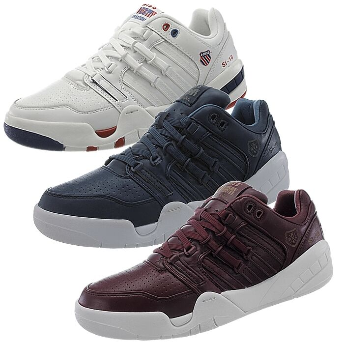 K-Swiss SI-18 INTL men's sneakers white or bluee or red smooth leather NEW