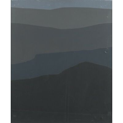 6. Felrath Hines, Grey Hill with Blue. o/c, 1969. Lot 6