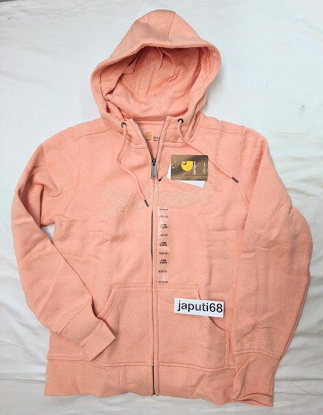1Carhartt Ladies Clarksburg Sweatshirt sz LARGE Peach Fuzz Heather [CBX)