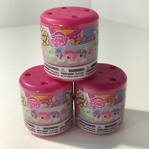 My-Little-Pony-Fashems-Series-6-Blind-Capsules-Squishy-Fashion-Fun-Lot-Of-3-New