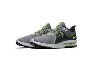 40007c55da1a37 Nike Air Max Sequent 3 Mens Running Shoes Gray Green 921694-007 Size ...