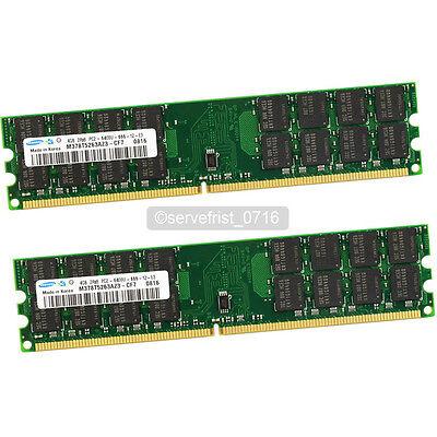 Samsung 8GB 2X 4GB DDR2 800Mhz PC2-6400U 240pin Dimm Memory AMD CPU Motherboard