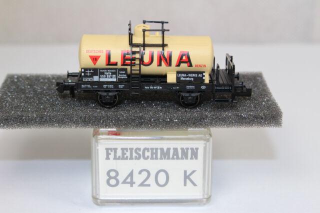 n2564, Fleischmann 8420 K Kesselwagen LEUNA BOX Spur N KKK NEM mint
